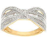 Baguette Band Diamond X-Ring, 14K Gold, 1/2 cttw, by Affinity - J326268