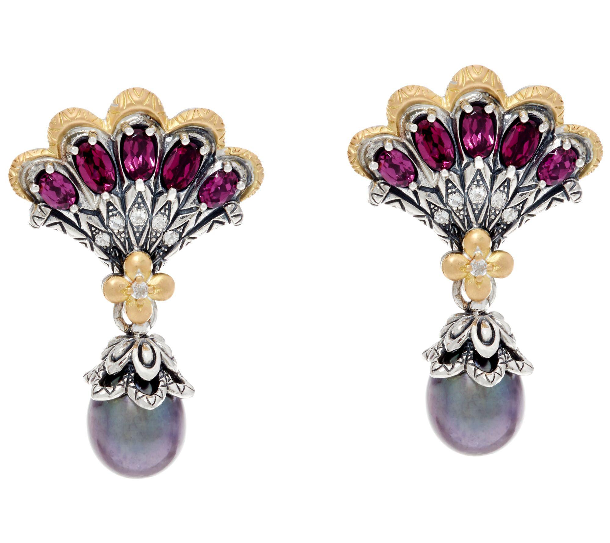 Barbara Bixby Sterling & 18k Cultured Pearl Mermaid Earrings  J329668
