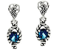 Carolyn Pollack Sterling Silver Brilliant 1.50 cttw Oval Gem Earrings - J332268