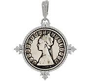 Judith Ripka Sterling Verona 500 Lire Enhancer Pendant - J334368