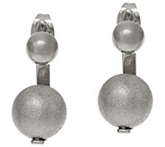 As Is Stainless Steel Front to Back Illusion Design Earrings - J334468
