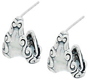 Carolyn Pollack Sterling Silver Signature Hoop Earrings - J335568