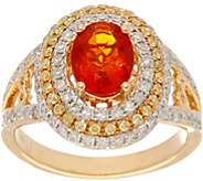 Graziela Gems Fire Opal & Diamond Ring 14K Gold - J346268