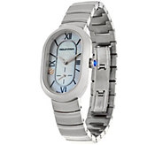 Philip Stein Mother of Pearl Stainless Steel Bracelet Watch - J347568