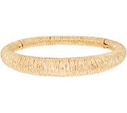 Arte dOro Average Textured Oval Bangle 18K Gold 20.4g - J349168