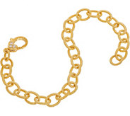 Judith Ripka Sterling & 14K Clad 6-3/4 Oval Link Bracelet - J350268
