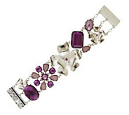 As Is Isaac Mizrahi Live! Faceted Stone and Flower Bracelet - J351068