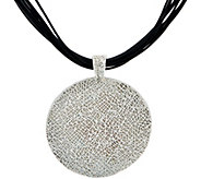 Or Paz Sterling Bold Circle Pendant w/ Multi-cords Necklace - J351568