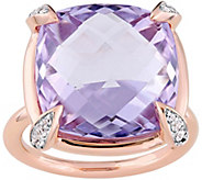 14K 15.10 cttw Rose de France and White Sapphire Ring - J377668