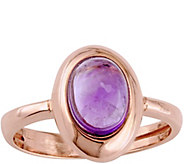 14K Rose Gold 1.05 ct Amethyst Ring - J379168