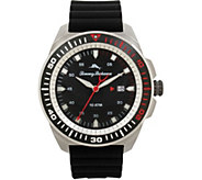 Tommy Bahama Surfside Black Silicone-Strap Sport Watch - J379768
