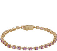 Judith Ripka 14K 4.60ct Pink Sapphire Diamond 7-1/4 Bracelet - J381168