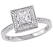 Affinity 14K Gold 7/10 cttw Princess-Cut Diamond Halo Ring - J381368