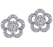 Affinity 14K 1/2 cttw Diamond Floral Stud Earrings - J383668
