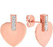 Steel by Design Stainless Steel Heart Stud Earrings - J383768