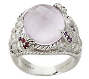 Judith Ripka Sterling Amethyst Butterfly Cocktail Ring - J149669