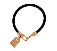 As Is Bronzo Italia Rose Bronze Initial Tag Bracelet - J285469