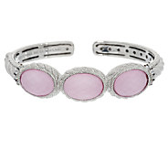 Judith Ripka Sterling Gemstone Doublet and Diamonique Cuff - J292069
