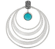 Michael Dawkins Starry Night Sterling Silver Sleeping Beauty Circle Pendant - J295269