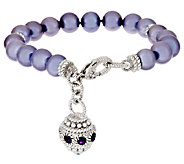 Judith Ripka Sterling Cultured Pearl 7-1/4 Bracelet with Charm - J295469