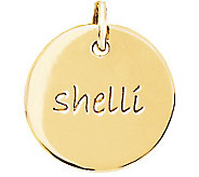 Posh Mommy 18K Gold-Plated Sterling Medium DiscPendant - J300069