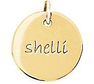 Posh Mommy 18K Gold-Plated Sterling Medium DiscPendant - J300069