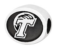 Sterling Silver Tulane University Bead - J300769