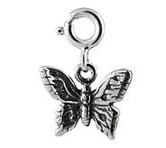 Sterling Detailed Butterfly Charm - J302369