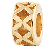 Prerogatives Gold-Plated Sterling X Spacer Bead - J302669
