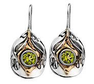 Hagit Gorali 2.00 cttw Peridot Sculpted Earrings, Sterling/14 - J305469