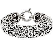 Vicenza Silver Sterling 7-1/4 Bold Woven Byzantine Bracelet, 23.7g - J317269
