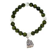 As Is Connemara Marble Stretch Bell Bracelet - J317469