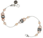 Sterling Silver Cultured Pearl Station Bracelet by Or Paz - J318669