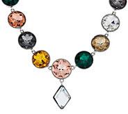 LOGO Links by Lori Goldstein 18 Gemstone Necklace with Diamond Drop - J320769