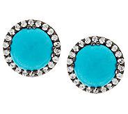 As Is Graziela Gems Sleeping Beauty Turquoise Stud Earrings - J322269