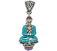 Barbara Bixby Sterling & 18K Buddha & Amethyst Enhancer - J324669