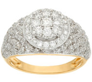 Woven Halo Cluster Diamond Ring, 14K, 1.00 cttw , by Affinity