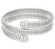 Judith Ripka Sterl. Average Verona Tubogas Cuff Bracelet 30.7g - J326469