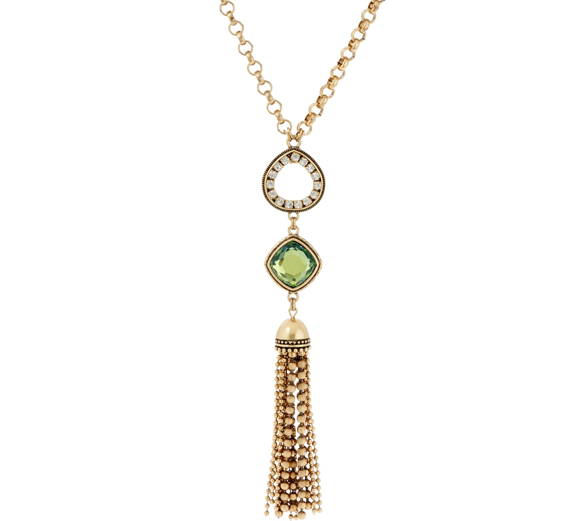 Joan rivers multi link chain necklace with tassel page 1 for Joan rivers jewelry necklaces