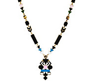 LOGO Links by Lori Goldstein Long Enamel Tribal Necklace - J329469