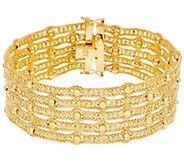 Arte dOro 6-3/4 Woven Bead Bracelet 18K Gold 31.5g - J331069