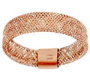 As Is VicenzaGold Woven Mesh Stretch Ring, 14K Gold - J332969