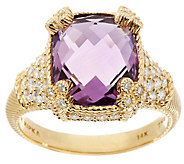 Judith Ripka 14K Gemstone & 7/10 cttw Diamond Monaco Ring - J334969