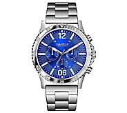Caravelle New York Mens Blue Dial Stainless Steel Watch - J336569