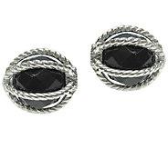 Judith Ripka Sterling Black Onyx Changeable Endcaps - J337769