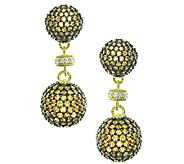 Judith Ripka 14K Yellow Gold-Clad Diamonique Drop Earrings - J337969