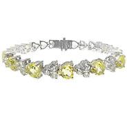 Judith Ripka Sterling Gemstone Heart Tennis Bracelet, 6-3/4 - J338969