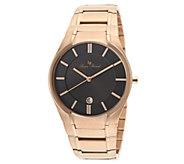 Lucien Piccard Davos Mens Rosetone Stainless Steel Watch - J339069