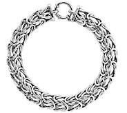 Byzantine 7-3/4 Bracelet, 14K White Gold - J340469