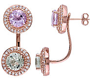 7.50cttw Multi-Gemstone Earring Jackets, 14K Rose Plated - J340769